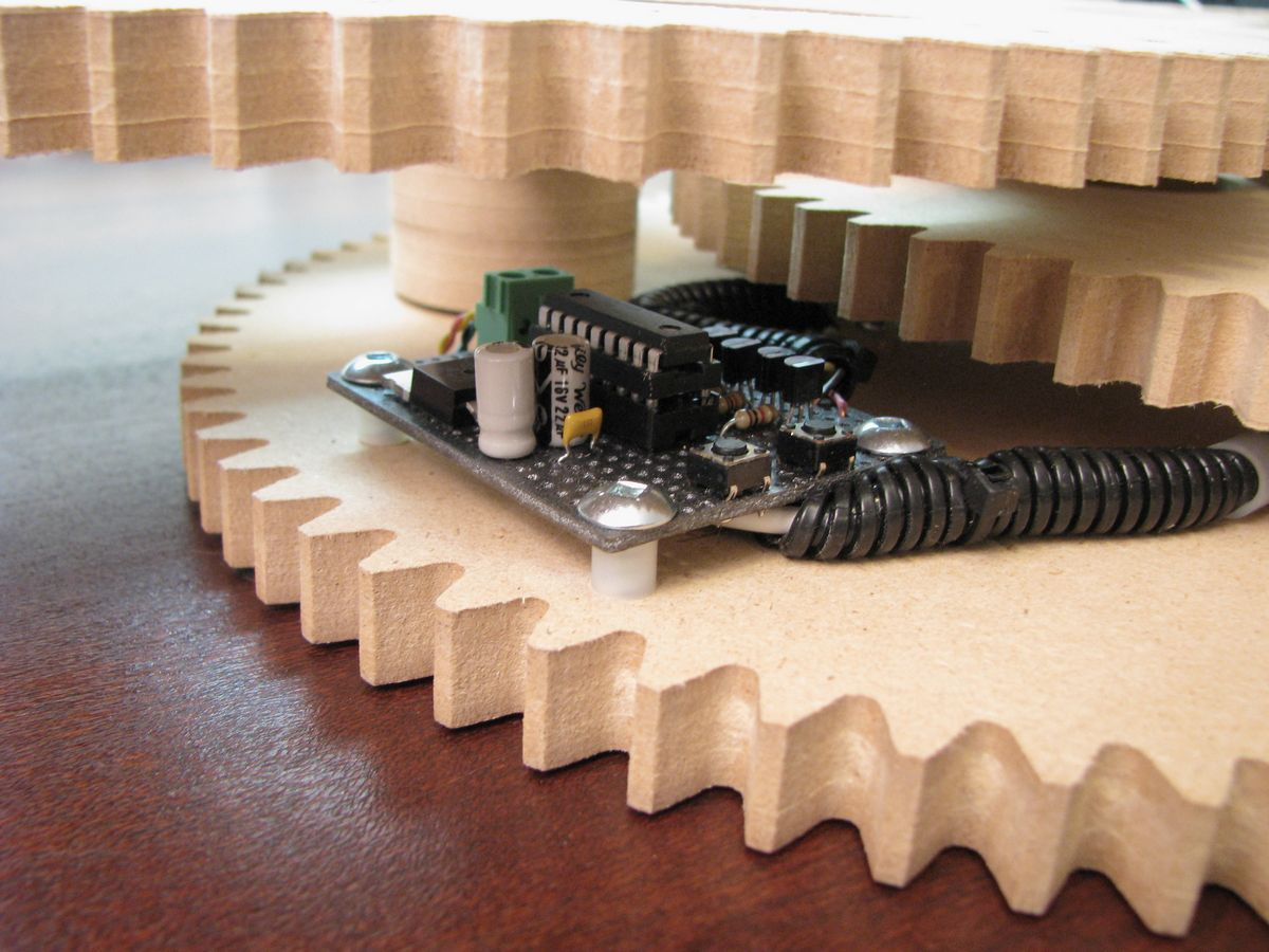 Gear Clock - Alan Parekh's Electronic Projects