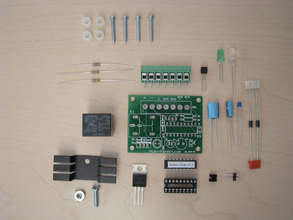 Button Code Single Entry System Alan Parekhs Toggle On Off Switch Electronicslab Pictures